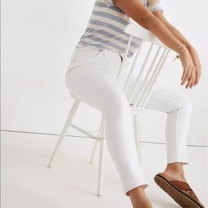 Madewell pure white jeans.